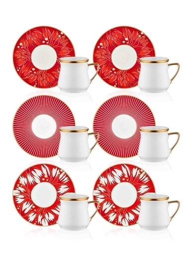 The Mia Rouge Kahve Fincanı Seti - 6 Kişilik Renkli